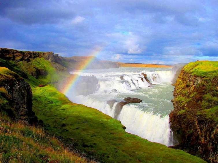 Водопад Гульфосс в Исландии