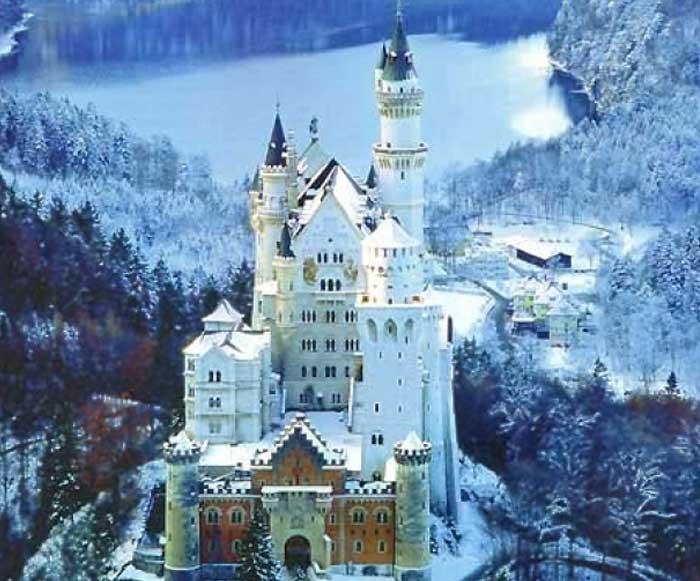 Бавария. Замок Нойшванштайн. Зима
