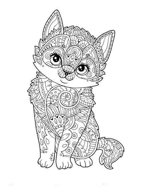 Распечатать рисунки антистресс животные
