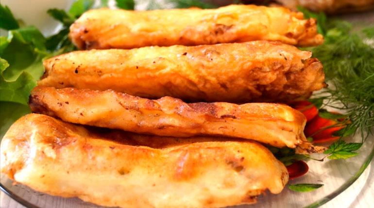 пирожки из капусты с творожной начинкой
