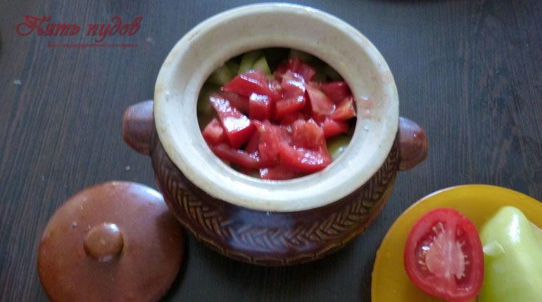 помидоры в горшочке